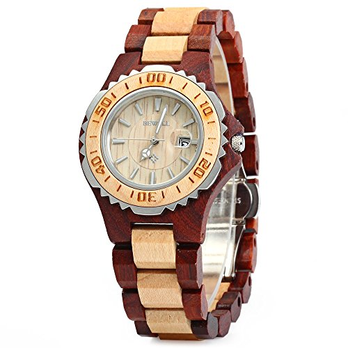 gblife-bewell-wooden-women-quartz-watch-with-luminous-hands-metal-case-30m-water-resistance