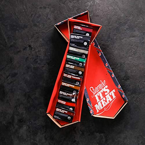 Man Crates Jerky Tie - Fun Gift For Men - Includes 10 Delicious Beef Jerky Flavors - In A Delightfully Surprising Tie-Shaped Box by Man Crates (Image #6)