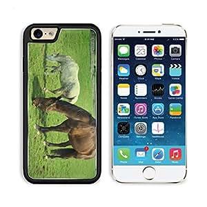 Horses Animal Eating Grass Pasture Meadow 3DCom iPhone 6 Cover Premium Aluminium Design TPU Case Open Ports Customized Made to Order