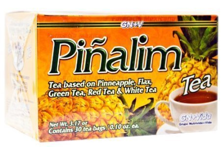 SmileMore Pinalim Tea/Te de Pinalim Mexican Version- Pineapple, Flax, Green Tea, White Tea - 30 Day Supply