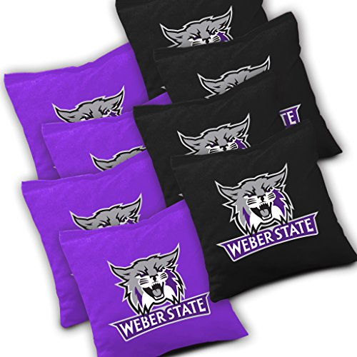 - Weber State Wildcats Cornhole Bags Set of 8 Officially Licensed ACA Regulation Baggo Bean Bags ~ Made in The USA