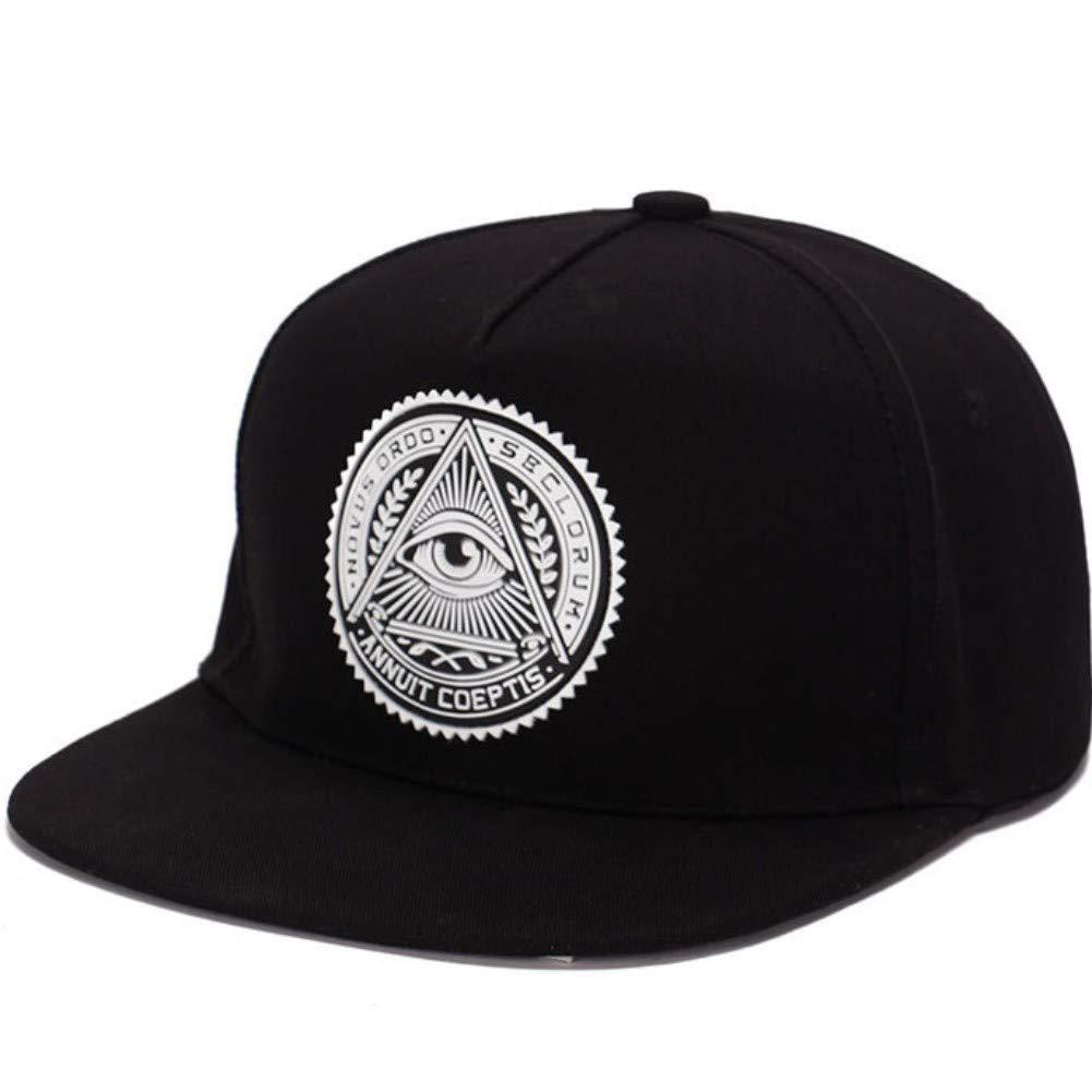 Wide Brim Baseball Cap Fashion Style AKIZON Illuminati Snapback Hats for Men