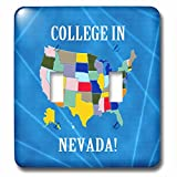 Beverly Turner College in - United States Map, College in Nevada, Heart and Car, Luggage - Light Switch Covers - double toggle switch (lsp_233573_2)