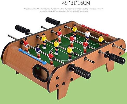 Yamyannie-Home Mesa de futbolín Juegos Deportivos Mini Mesa futbolín for Adultos y niños Mesa de futbolín de Mano portátil de recreo de fútbol Fútbol de Mesa Juego de fútbol: Amazon.es: Hogar