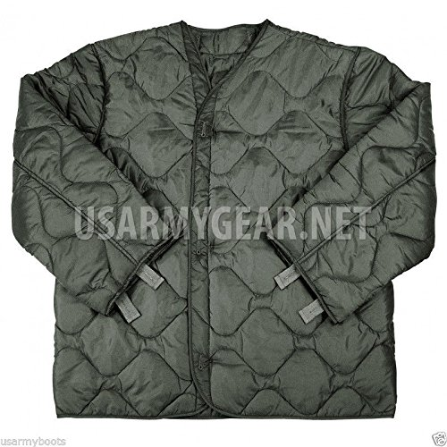 New Made in USA Army Military M65 Field Jacket Quilted Foliage ... 2bb6de8573fa