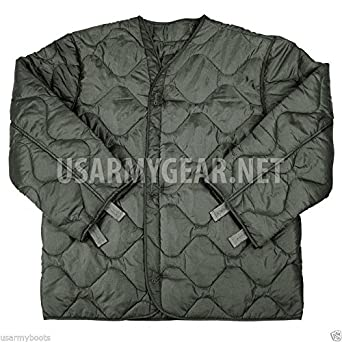 946486619c245 New Made in USA Genuine Issue GI Army Military M65 Field Jacket Quilted  Foliage Green Coat