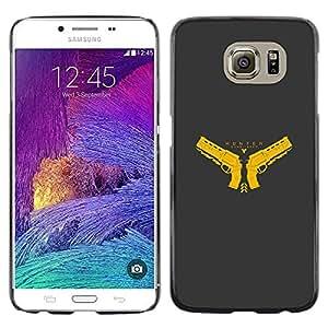 LECELL--Funda protectora / Cubierta / Piel For Samsung Galaxy S6 -- Cazador --