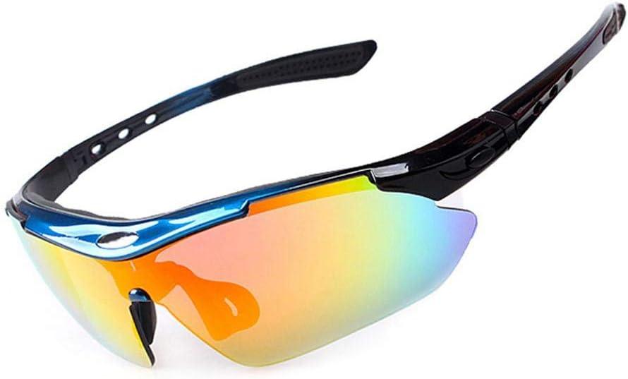 Convient pour veste v/élo dext/érieur Aviator Lunettes de cyclisme avec 4 lentilles de remplacement Lunettes de soleil de sport polaris/ées Lunettes de conduite Shades for Men Women Cycling Running