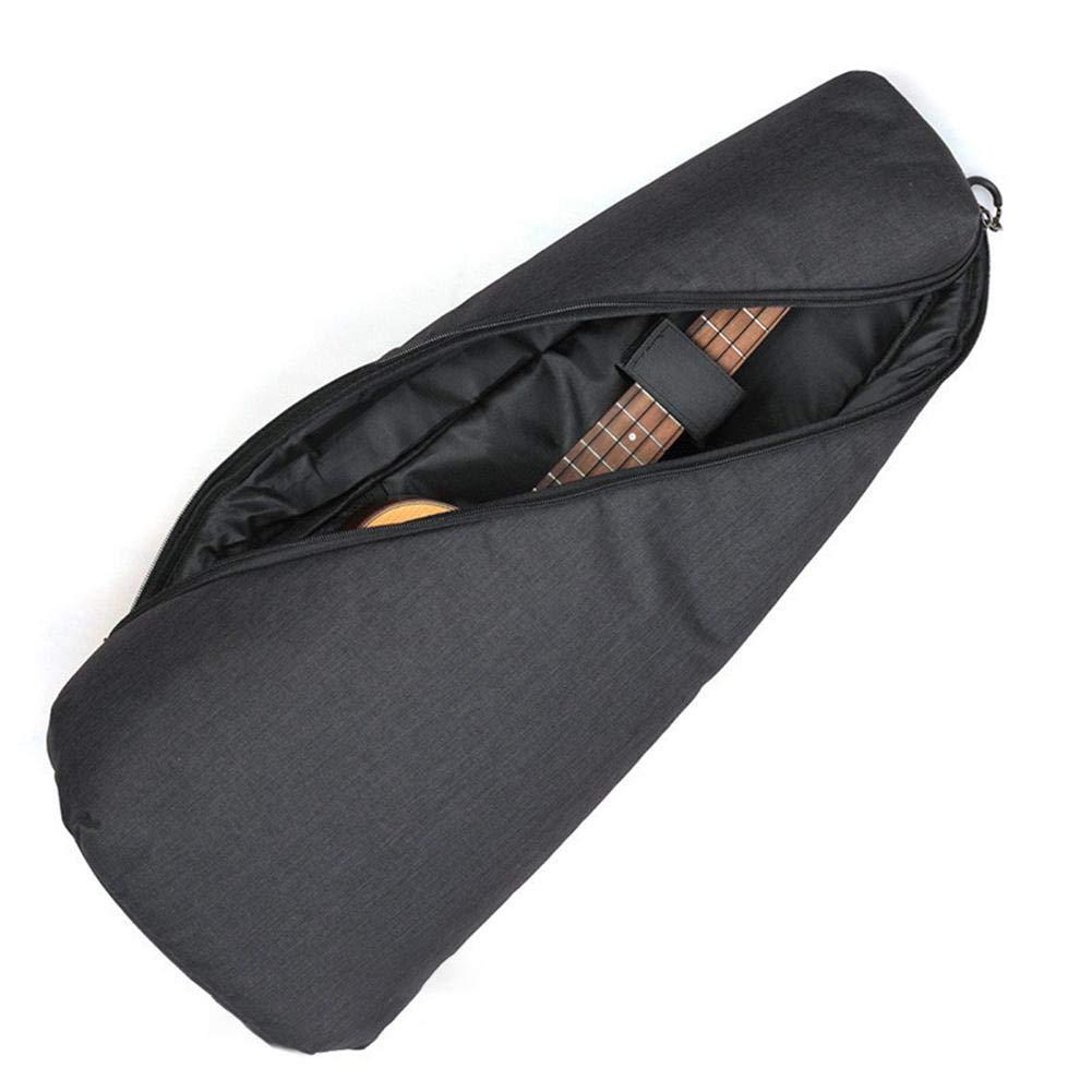 Ljourney Einfache Mode Ukulele Tasche Für 21/23 Zoll Ukulele, 26-Zoll-Ukulele, Schwarz, Grau