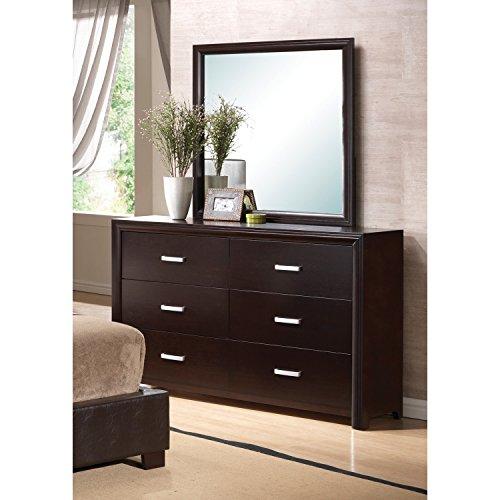 Coaster 202474N Home Furnishings Mirror, - Mirror Dresser Cappuccino