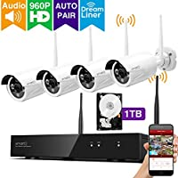 [Audio & Video] xmartO AUTO-PAIR 8CH 960p HD Expandable Wireless Surveillance Camera System with 4x 960p HD Outdoor Wireless Cameras and 1TB Hard Drive, Dream Liner WiFi Relay, NVR Built-in Router