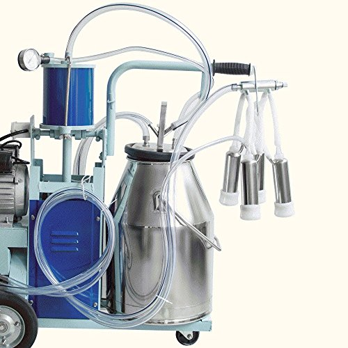 Electric Milking Machine For Farm Cows W//304 Stainless Steel Bucket cow Milker