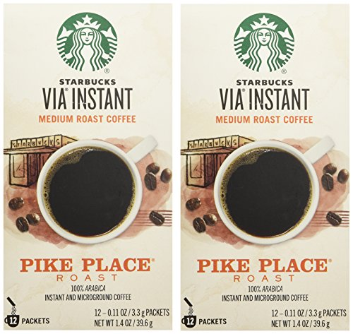 Starbucks VIA Ready Brew Pike Place Roast Coffee 12 Count - Pack of 2