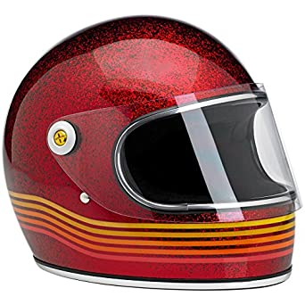 Casco para moto, Gringo S Le Spectrum, color rojo purpurina XL rojo