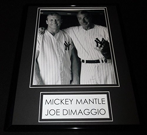 - Joe Dimaggio & Mickey Mantle Framed 11x14 Photo Display NY Yankees