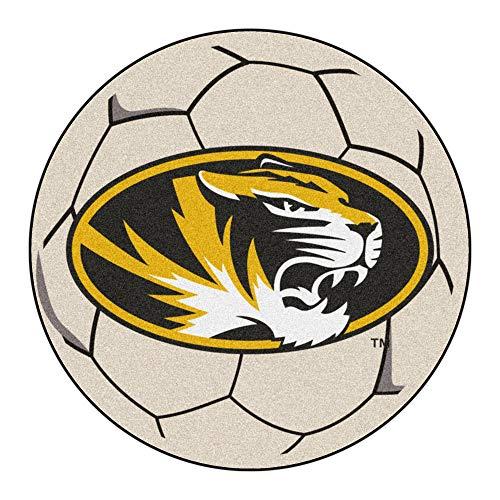 (NCAA University of Missouri Tigers Soccer Ball Mat Round Area Rug)