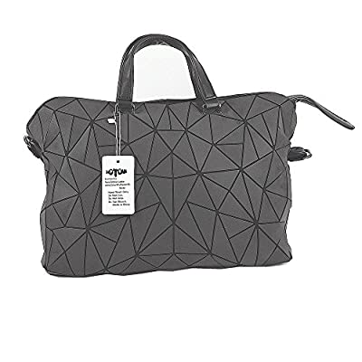 HotOne Shard Lattice Design Geometric Bag PU Leather Briefcase unique purses and Handbags