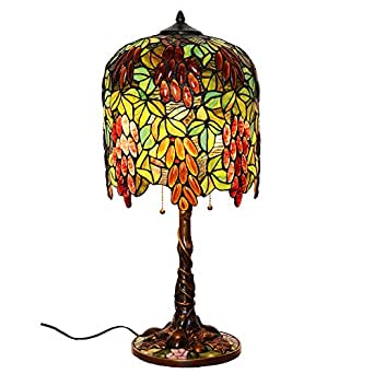 Bieye L10006 13 Inches Grapes Tiffany Style Stained Glass