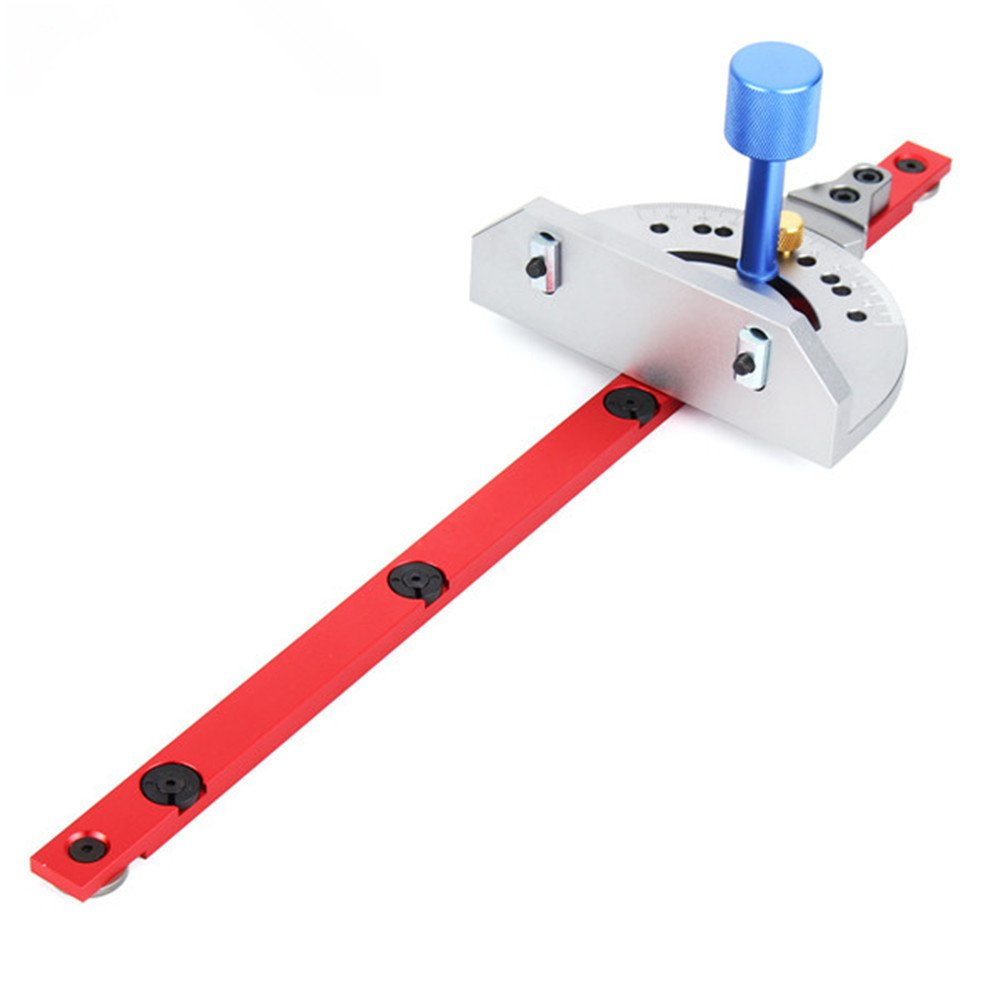 Red Mitre Gauge Table Saw Router Mitre Gauge Sawing Assembly Ruler Woodworking Tool for Bandsaw