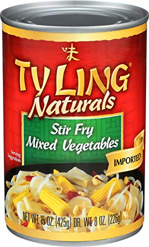 Ty Ling Mixed Chinese Vegetables, 15-Ounce Cans (Pack of 24) (Best Way To Stir Fry Frozen Vegetables)
