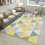 GIY Geometric Living Room Area Rugs 3D Rug Rectangular Carpets Children Bedroom Mats Outdoor Indoor Home Decor Runners 7' X 10'