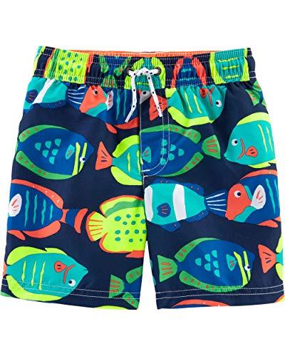 Navy Fish - Carter's Baby Boys' Swim Trunk (3T, Navy/Fish)