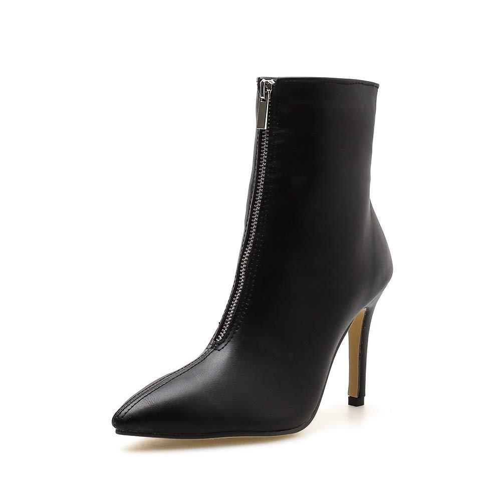 Fengjingyuan Bottes Pour Aiguilles, Damenschuhes, Talons Aiguilles, Pour Chaussures Pointues, Chaussures Polyvalentes, Bottillons,schwarz,35 - 0fec1c