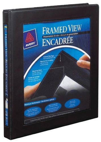 Avery 68050 Framed View Binder, 1/2