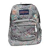 JanSport Backpack Multi Tone SUPERBREAK, SUPER FX, California Bear Various Style! Bag_Style: SHADY GREY SPRINKLED FLORAL