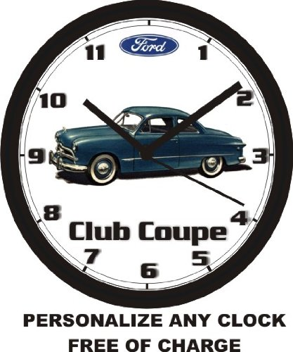 1949 FORD CLUB COUPE WALL CLOCK-Free USA Ship! ()
