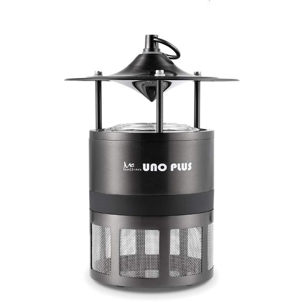 物理的な蚊キラー アウトドア ファーム バグザッパー 吸入した 蚊 昆虫のキラー 忌避剤 - 屋内および屋外用 昆虫のキラー、ハエザッパー、ハエキラー、ハエたたき、ハチキラー - 3.5ワット B07R8C6NLC  Black-outdoor