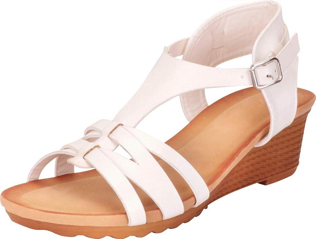 Sandal Open Wedge Strap Women's Toe T Low QrCWdBxoeE