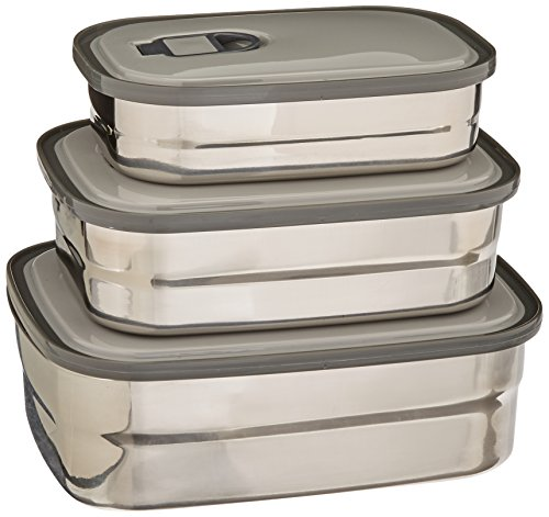 stainless steel food storage containers metal lunch box with import it all. Black Bedroom Furniture Sets. Home Design Ideas