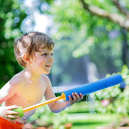 Kiztoys Foam Water Gun 4 Pack (45cm) - Safe Foam Outdoor Water gun for Kids&Adults,Blaster Shooter Set Pool Toys in Summer Swimming Pool, Beach for Girls and Boys