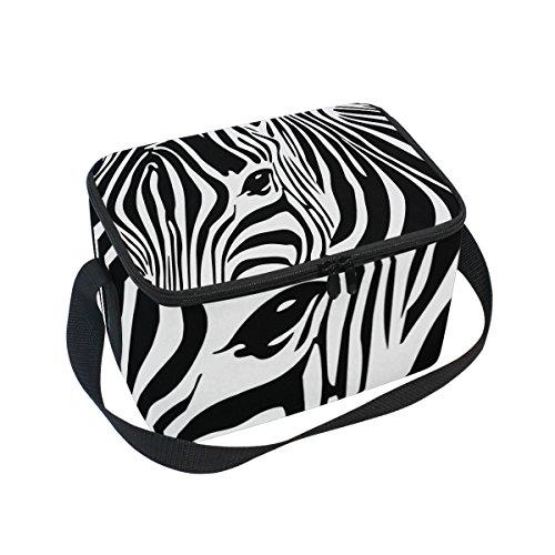 - Use4 Animal Zebra Print Insulated Lunch Bag Tote Bag Cooler Lunchbox for Picnic School Women Men Kids