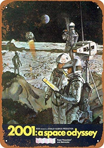 ACOVE 1968 2001 A Space Odyssey Vintage Look Metal Tin Sign - 8x12 inch