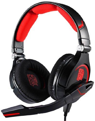 Headset Tt Sports Cronos Gaming - com controle de volume e microfone - Thermaltake HT-CRO008ECBL