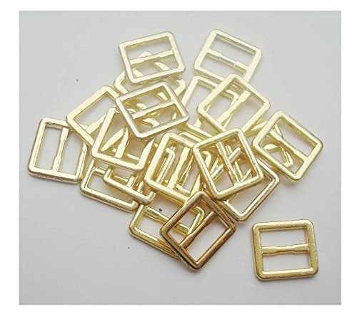 - 20pcs/lot Inner Width 6mm DIY Patchwork Buckle Handmade Sewing Mini Buckle for bjd Dolls Dolls Clothing Adjustable Button (Gold)