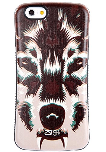 iPhone 6S Plus Case / iPhone 6 Plus Case, Tough Shield [Drop Protection] Soft Interior [Scratch Resistant] Perfect-Fit [Shock Absorbing] [Non-Slip] Hybrid Hard Armor Case, Wolf - 6142i9