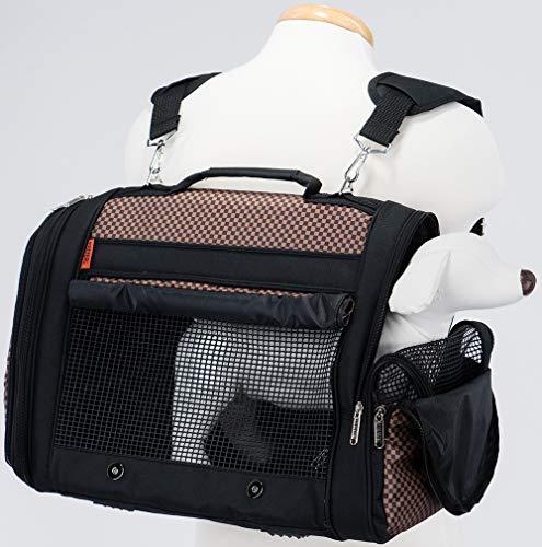 Prefer Pets Travel Gear 358BCK Hideaway Duffle Pet Carrier, Medium, Brown
