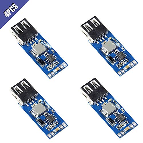 - Comidox 9V/12V/24V to 5V USB Step Down Power Module DC-DC 7.5V-28V to 5V 3A Precise Vehicle Charger Buck Voltage Converter Module 4Pcs