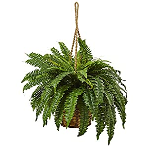 Nearly Natural 6931 Boston Fern Hanging Basket 63