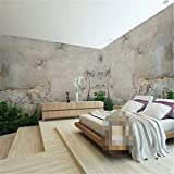 350cmX245cm wallpaper-3d background large painting Old concrete wall murales de pared hotel bedroom wall mural for living room,350cmX245cm