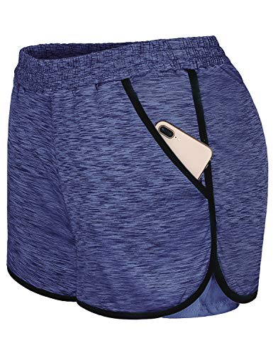 - Blevonh Yoga Shorts for Women,Trainee Plus Size Loose Fit Loungewear Dancing Training Cycling Workout Clothes Skin-Friendly Low-Friction Durability Athleisure Short Pants Purple Blue 2XL