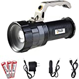 Lethu 2800 Lumen| High Output | Rechargeable | Zoomable Floodlight to Spotlight | X-Lamp XM-L2 T6 CREE LED Tactical Flashlight Rechargeable 18650 Battery Powered ( included)