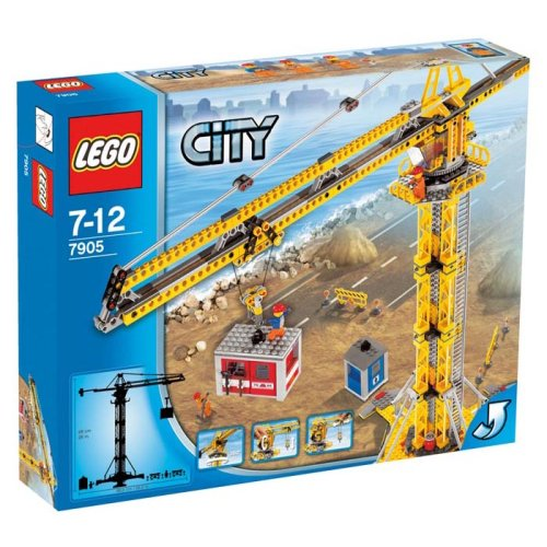 Lego City Set #7905 Building Crane (Building City Crane Lego)