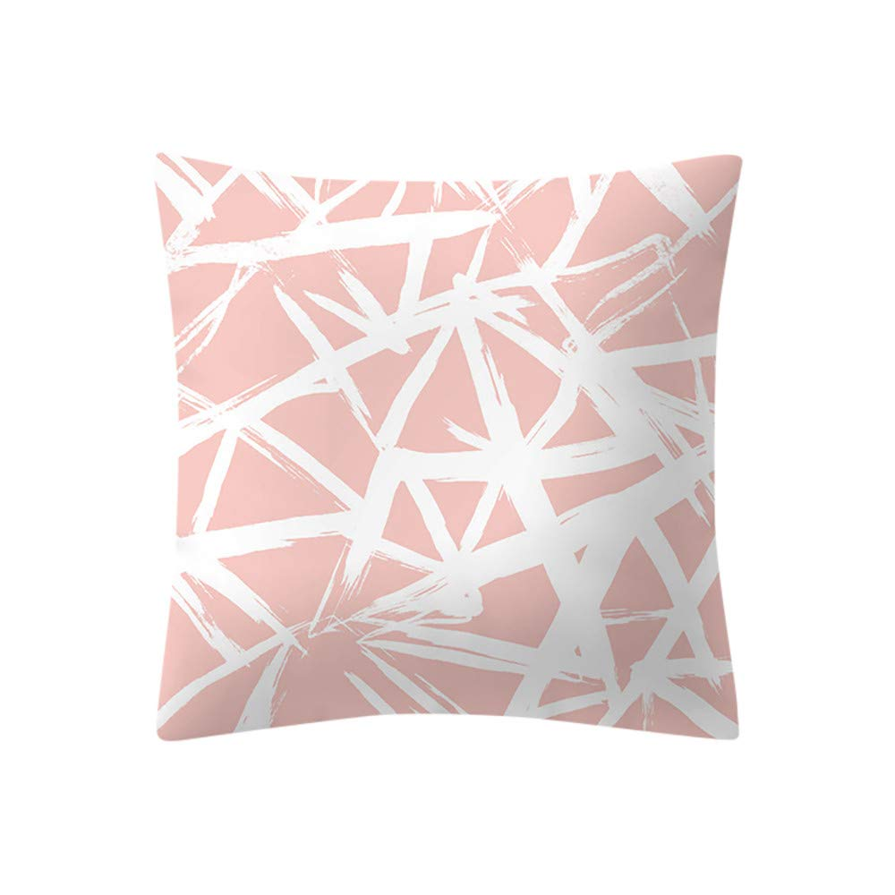 Sofa Pillow Cover, Kimloog 18x18'' Geometric Print Polyester Cushion Case Decorative(E)
