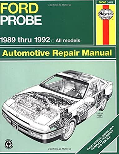 ford probe 1989 thru 1992 all models haynes automotive repair rh amazon com ford probe haynes manual ford probe haynes manual