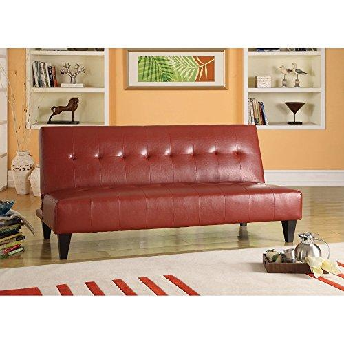ACME Cybil Adjustable Sofa w/2 Pillows, Silver Mfb
