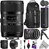 Sigma 18-35mm F1.8 Art DC HSM Lens for CANON DSLR Cameras w Advanced Photo and Travel Bundle